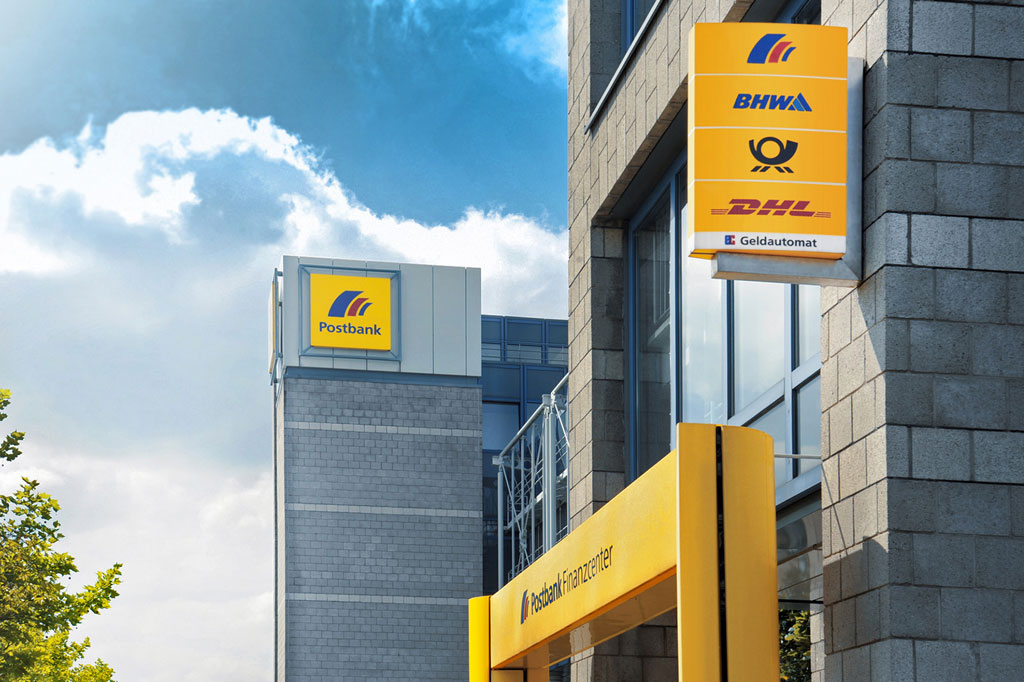 In company's corporate design of Deutsche Post