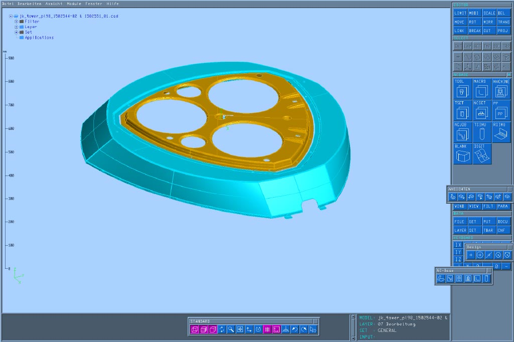 Of assemblies consisting of multiple thermoforming parts
